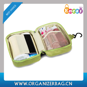 Encai Fashion Travel Toiletry Kits With Compartments Hanging Toiletry Bag