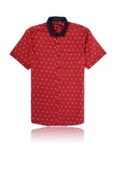New Fancy Short Sleeve Men's Dress Shirts