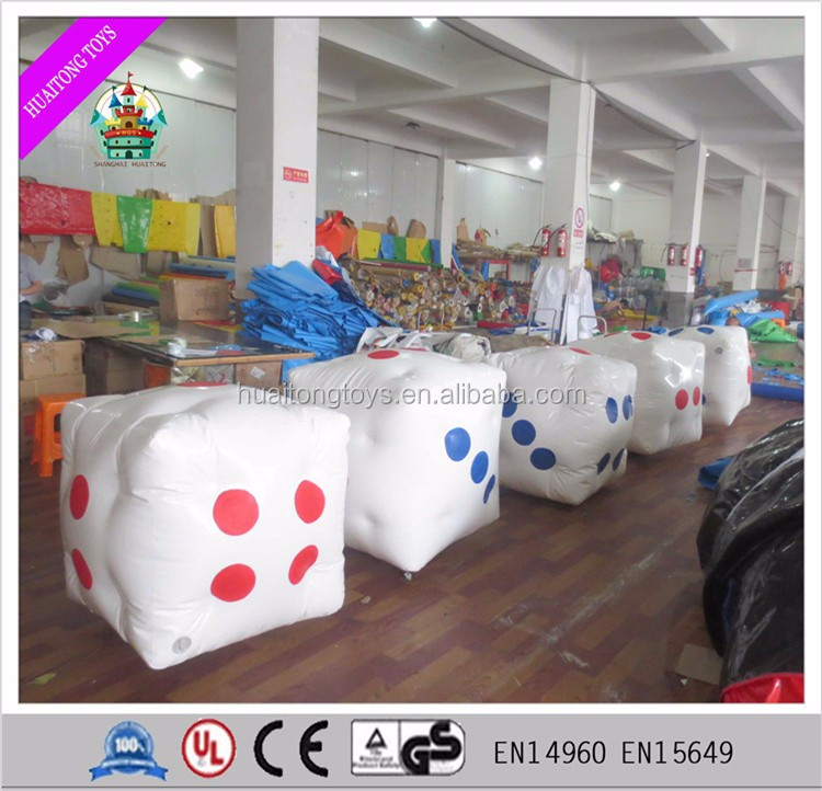 sealed inflatable dice/inflatable model/PVC inflatable dice for games