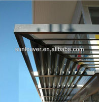 Aluminum heat insulation airfoil louver sun shade