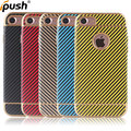 2017 Sticker leather TPU carbon fiber case back cover for iphone6/ 6s phone accessories for iphone6 4.7 soft silicone case