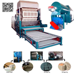Low investment High profit business 3000~4000pcs/hr Used Paper egg tray making machine price