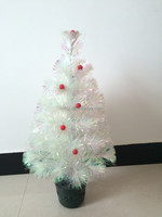 Mini White Decorative With Red Ball Christmas Tree