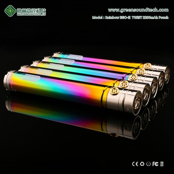 wholesale e cigarette starter kit GS EGoII Rainbow Twist 2200mah electronic cigarette accessories