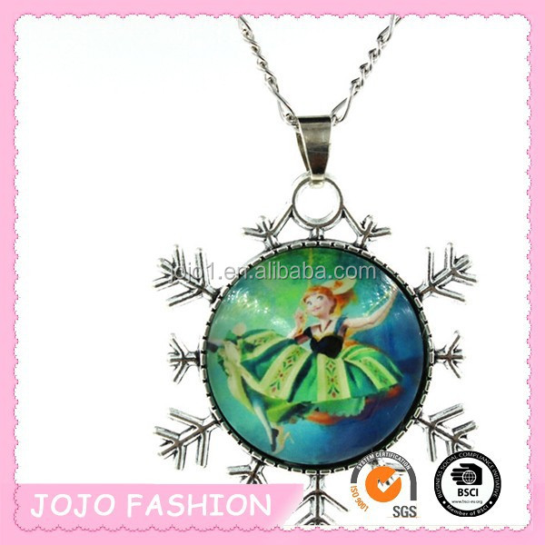 Yiwu best selling frozen girl pendant neckalce,