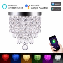 Lohas WiFi Smart Crystal Light Work with Amazon Alexa Colour Changing APP/Smartphone Controlled Ceiling