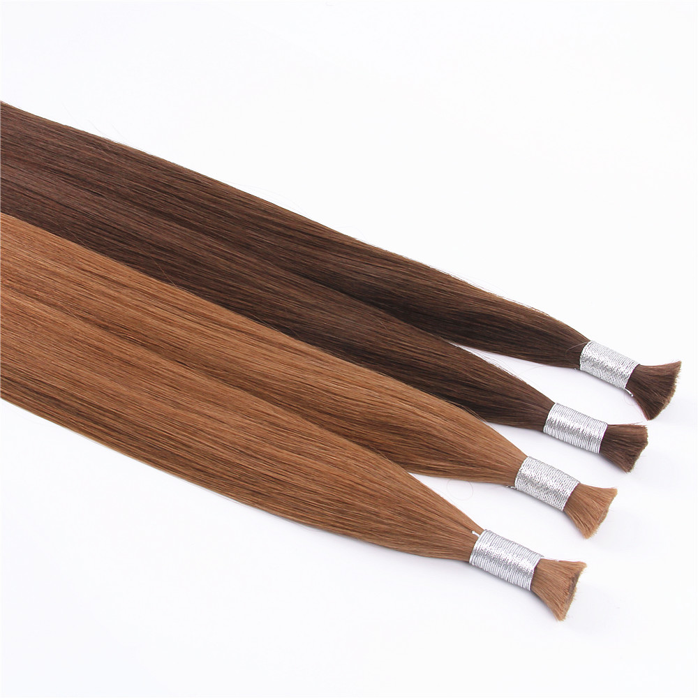 grade 8a double drawn remy human hair bulk extensions
