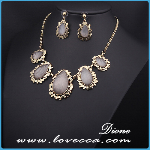 womens platinum plated jewelry sets
