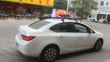 reasonable price high brightness taxi top led display board/taxi billboard advertising board