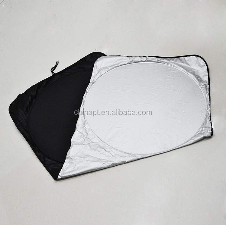 Car sun shield for front window