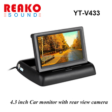 4.3 tft lcd car foldable rearview monitor
