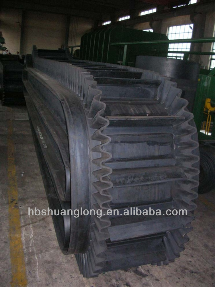 no joint/cleated sidewall heavy duty endless conveyor belt