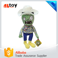 Farmer Plush Zombies Stuffed Doll Toy