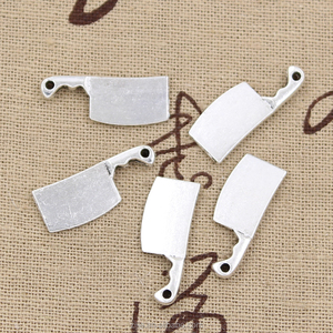 kitchen knife meat cleaver Charms Antique Tibetan silver cross flower charm pendants 23*9mm