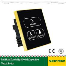 Soft Hotel Touch Light Switch Capacitive Touch Switch
