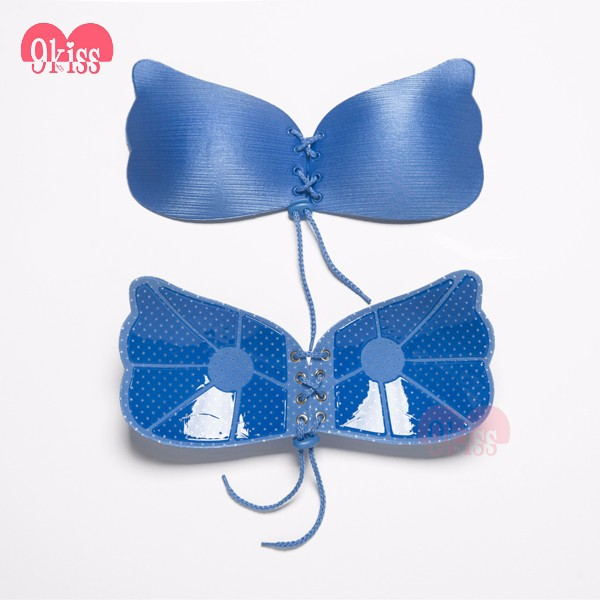 Silicone Invisible Bra Strapless Adhesive Reusable Push Up Bras with Drawstring