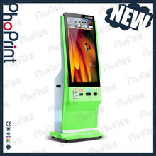"42"" lcd touch screen advertising player software/hardware customization boft photo print case oem vending photo kiosk"