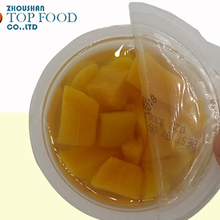 canned peach diced in light syrup with plastic cup