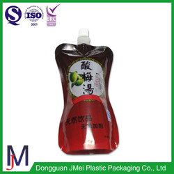 cheap promotional products china aloe vera basil seed drink and monster energy drink spout pouch plastic