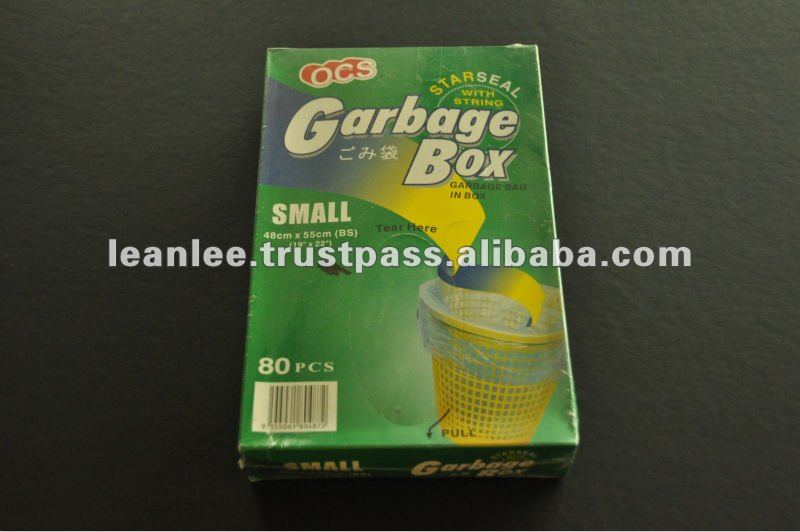 100% Virgin Grade Garbage Bag Flat Seal