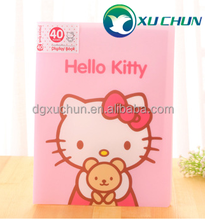 Cute Cartoon animal inserts file Office&School PP file folder ODM books with transparent pockets