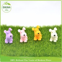 Wholesale Set of 4pieces purple pink yellow white color mini resin dog figurines wholesale