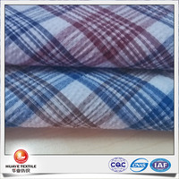 yarn dyed polyester cotton fast suck gingham check kimino fabric for shirts