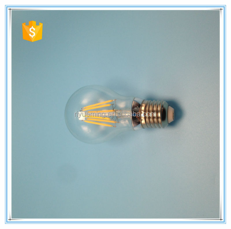 A60 E27 bulb LED Filament Lamp Dimmable