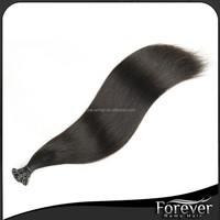 Hot selling premium stick tip pre bonded hair extension 100% virgin remy hair double drawn in dark color