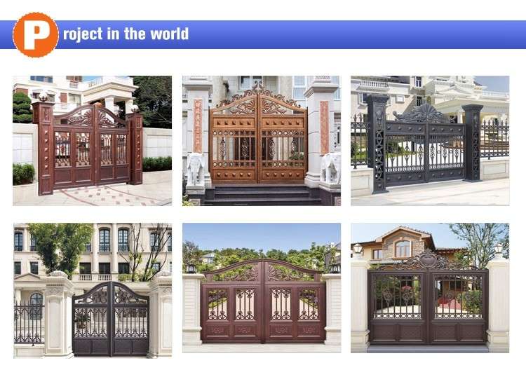 2015 New latest house Aluminum main gate designs