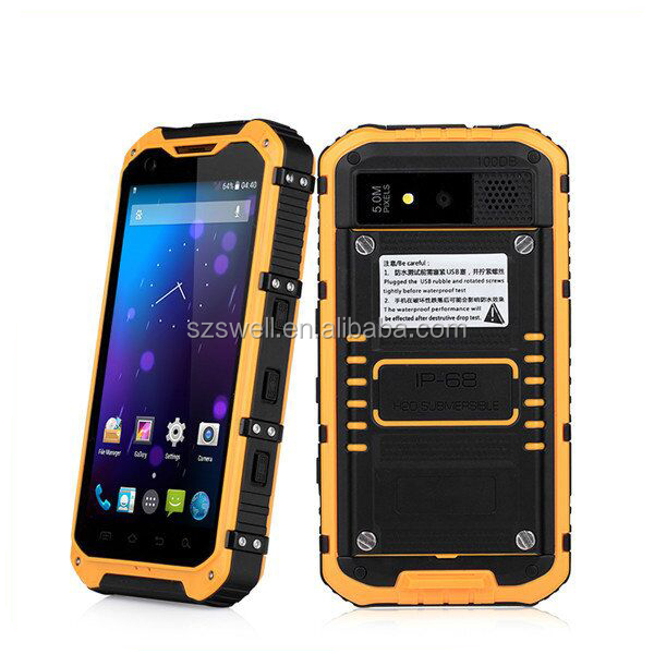 China manufacturer android 4.4.2 ip67 rugged smartphones nxp nfc 544 fingerprint sensor rugged barcode scanner mini usb android