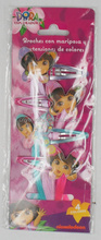 OEM-4PCS KIDS DORA HAIR CLIP WITH HAIR EXTENSION