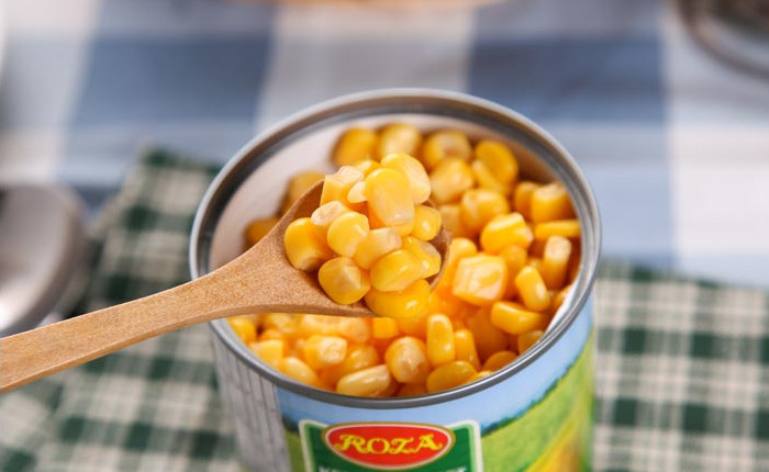Canned fresh sweet corn kernel 340g vaccum pack