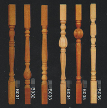 solid wood balusters/ wood banisters/ wood handrails
