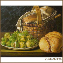 Handmade hot sale classical oil painting of delicious food