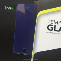 Blue light cut eye protective tempered glass screen protector for apple iphone 5 5s 5C SE