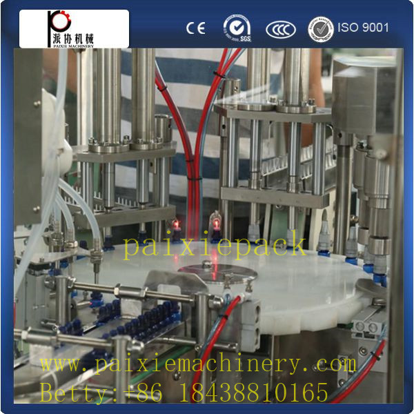 robot hand electronic cigarette oil filling,plugging and capping machine ,small dose liquid filling and capping machine