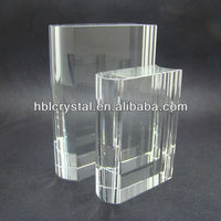 Nice good polishing work crystal book trophy for gifts