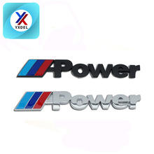 Custom Letter Logo High Quality 3D ABS Car Brand M Power Motorcycle Auto Emblem Badges