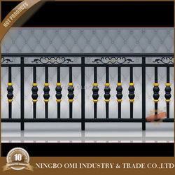 top sales NL813-16wrought iron handrails outdoor stairs/balcony railing designs / forged group ware wrought iron