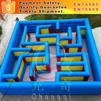 Customized inflatable obstacle course inflatable haunted maze for sale