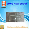 E china supplier popular clear Printing pvc with zipper bag