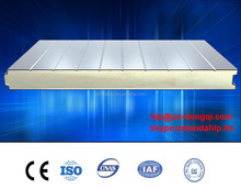 Corrugated Metal sheet PU Core Freezer wall panel