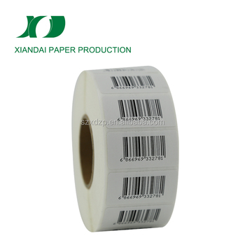 supermarket barcode label adhesive custom stickers thermal transfer labels manufacturers in China