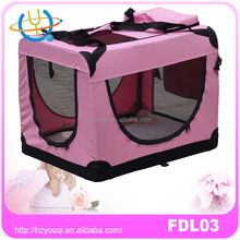 Pink dog carrier crate soft dog crate