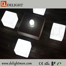 3d led cube/ led glowing chair/ led curved benches