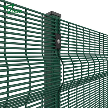 High Security Fence / Anti Climb / 358 Fence Welded / Curved / Coated Border / Wire Mesh Panel Fencing
