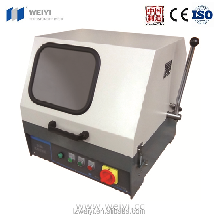 SQ-80/100 metallographical sample cutting machine with sanding wheel