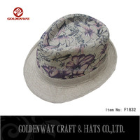 100% paper printed fedora hats for promotion