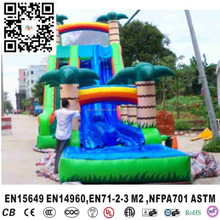 New style latest inflatable coconut tree slide for kids